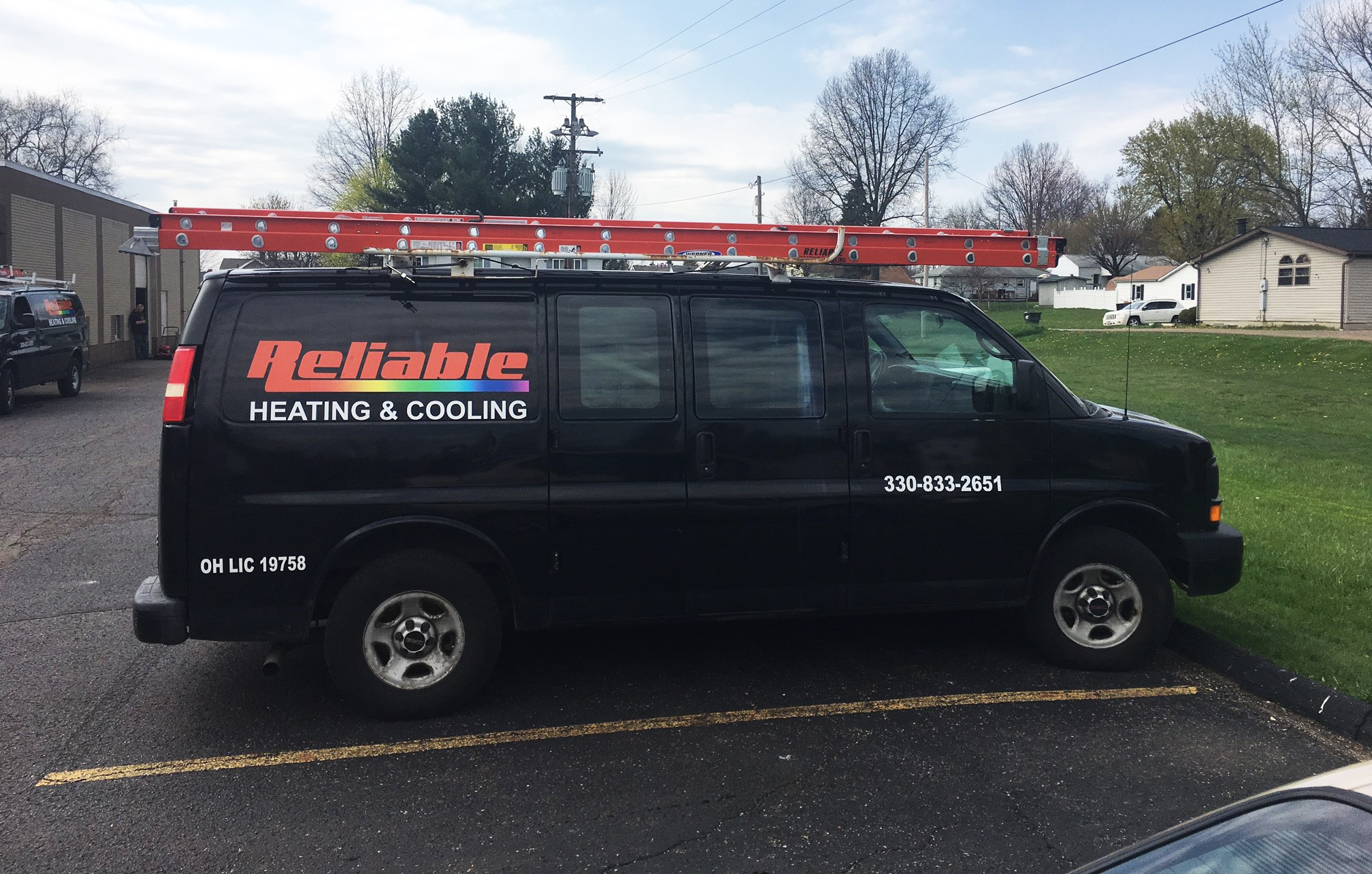 Reliable Heating and Cooling Service Truck