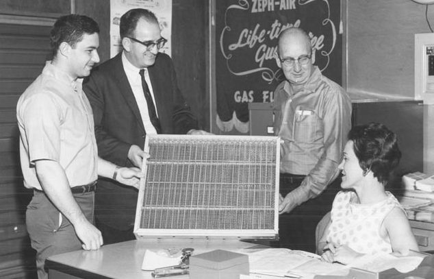 Historical Photo of New Air Filter Technology